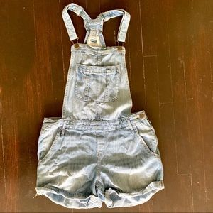 Old Navy Light Wash Short Overalls